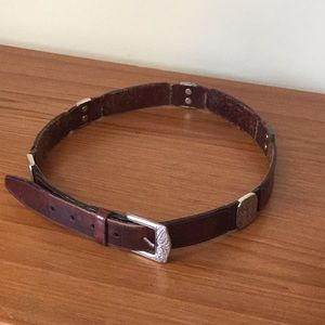 Vintage fossil belt. Leather